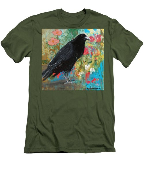 Men's T-Shirt (Slim Fit) featuring the painting Mystery At Every Turn by Robin Maria Pedrero
