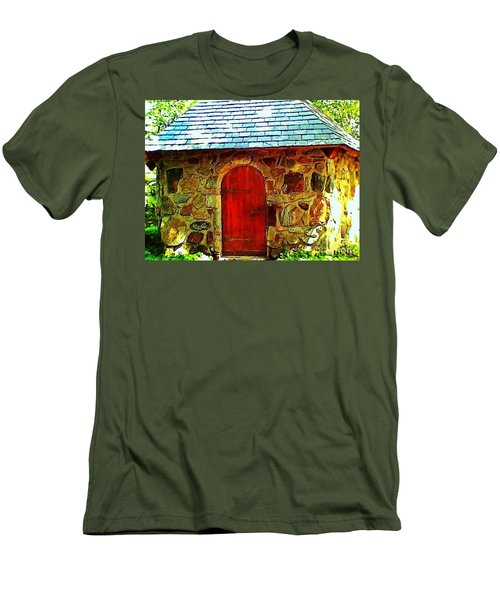 Myth And Mystical Chapel Men's T-Shirt (Slim Fit) by Becky Lupe