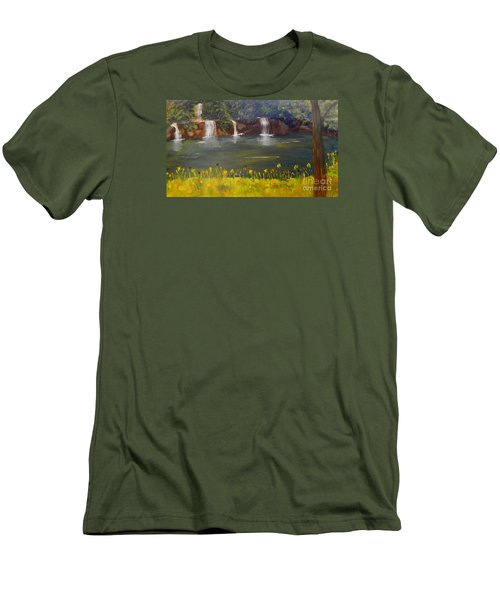 Nandroy Falls In Queensland Men's T-Shirt (Slim Fit)