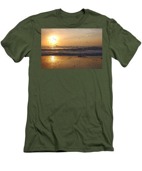 Naples Beach Men's T-Shirt (Athletic Fit)