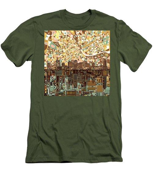 Nashville Skyline Abstract 4 Men's T-Shirt (Athletic Fit)