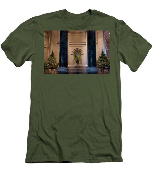National Gallery Of Art Christmas Men's T-Shirt (Slim Fit) by Stuart Litoff