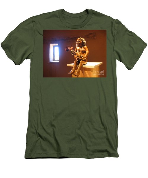 Men's T-Shirt (Slim Fit) featuring the photograph Native American Art by Dora Sofia Caputo Photographic Art and Design