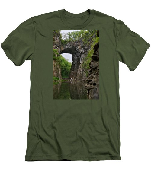 Natural Bridge Men's T-Shirt (Slim Fit) by Lawrence Boothby