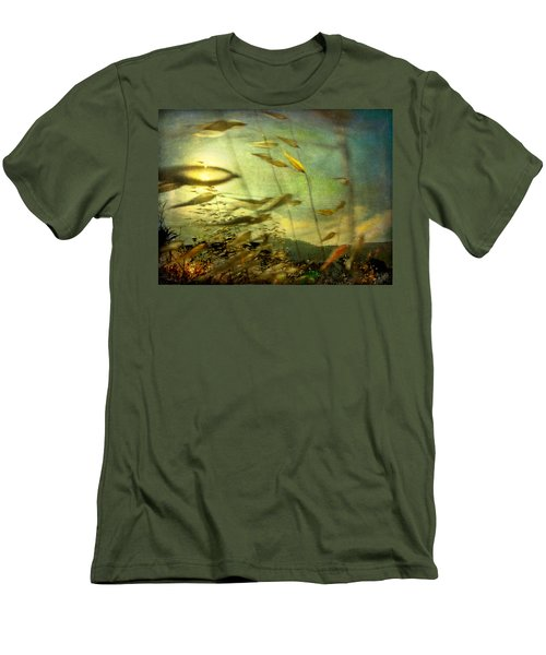 Nature #12. Strong Wind Men's T-Shirt (Slim Fit) by Alfredo Gonzalez