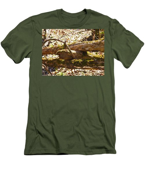 Men's T-Shirt (Slim Fit) featuring the photograph Natures Fence by Nick Kirby