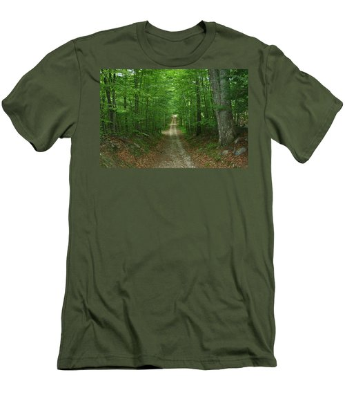 Men's T-Shirt (Slim Fit) featuring the photograph Nature's Way At James L. Goodwin State Forest  by Neal Eslinger