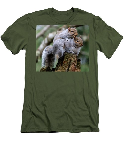 Fifty Shades Of Gray Squirrel Men's T-Shirt (Slim Fit) by Kym Backland