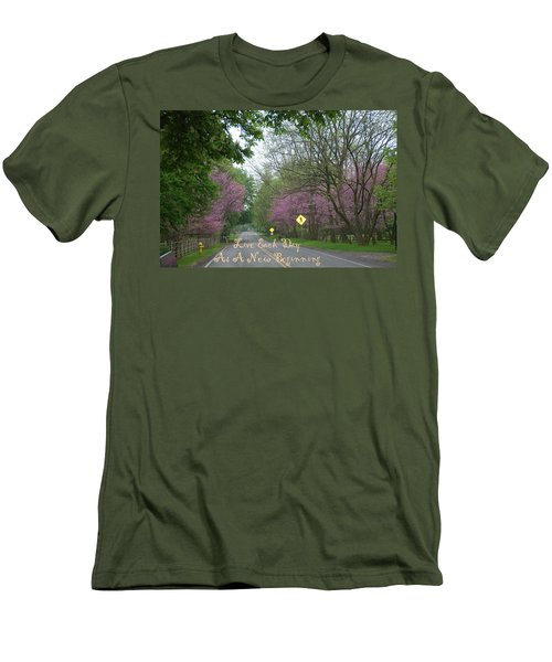 Men's T-Shirt (Slim Fit) featuring the photograph New Beginning by Aimee L Maher Photography and Art Visit ALMGallerydotcom