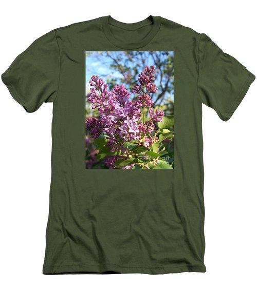 Purple Lilac Men's T-Shirt (Slim Fit) by Eunice Miller