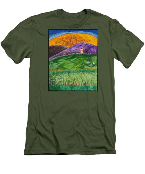 Men's T-Shirt (Slim Fit) featuring the painting New Jerusalem by Cassie Sears