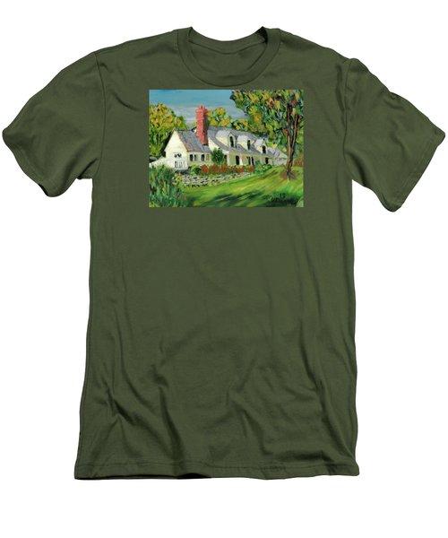 Next To The Wooden Duck Inn Men's T-Shirt (Slim Fit) by Michael Daniels