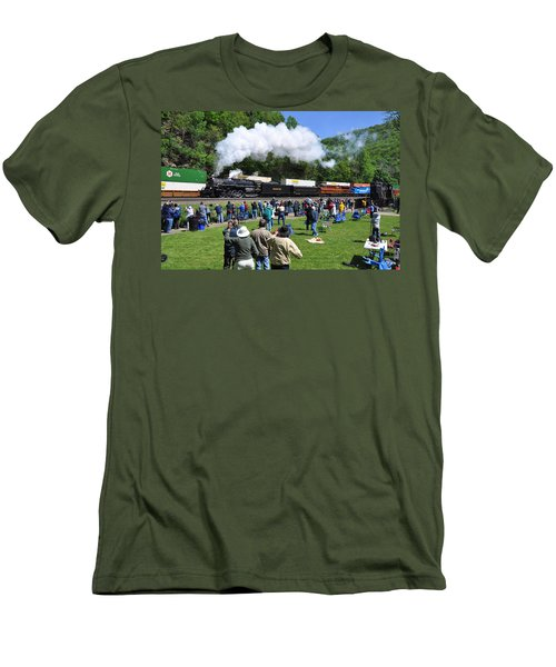 Nickel Plate Berkshire At Horseshoe Curve Men's T-Shirt (Athletic Fit)