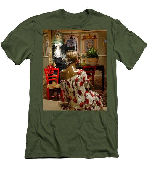 Men's T-Shirt (Slim Fit) featuring the photograph Cherry Bomb by Natalie Ortiz