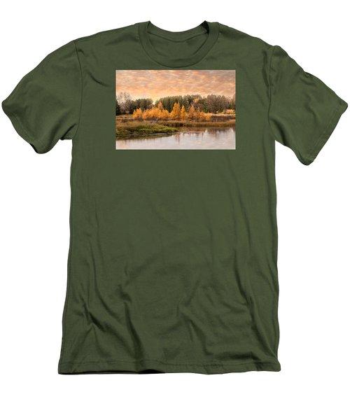Tamarack Buck Men's T-Shirt (Slim Fit) by Patti Deters