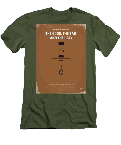 No090 My The Good The Bad The Ugly Minimal Movie Poster Men's T-Shirt (Athletic Fit)