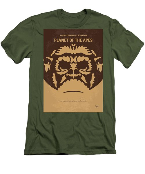 No270 My Planet Of The Apes Minimal Movie Poster Men's T-Shirt (Athletic Fit)