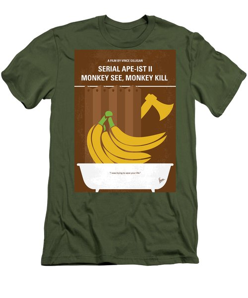 No356 My Serial Ape-ist Minimal Movie Poster Men's T-Shirt (Athletic Fit)