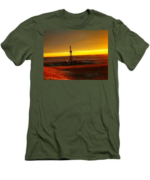 Nomac Drilling Keene North Dakota Men's T-Shirt (Athletic Fit)