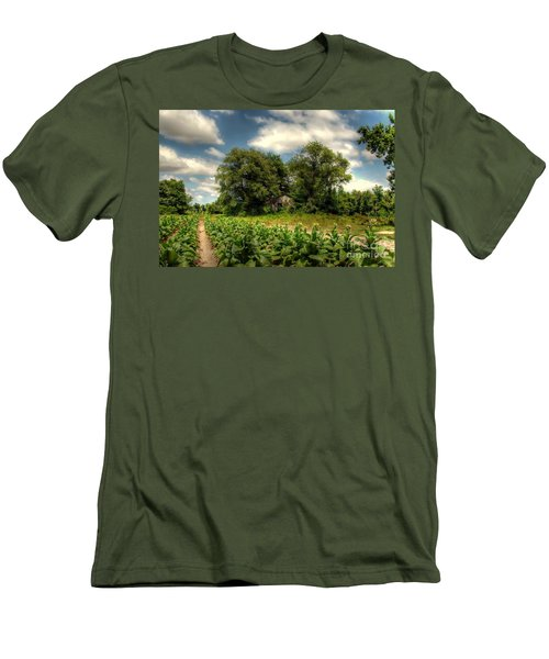 North Carolina Tobacco Farm Men's T-Shirt (Athletic Fit)