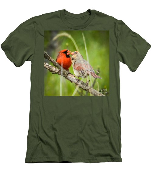 Northern Cardinal Male And Female Men's T-Shirt (Athletic Fit)