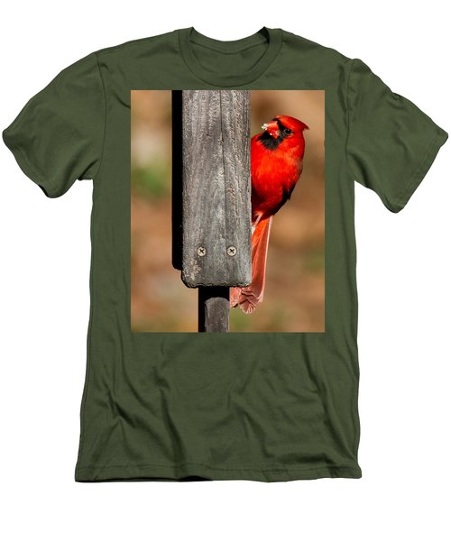 Men's T-Shirt (Slim Fit) featuring the photograph Northern Cardinal by Robert L Jackson