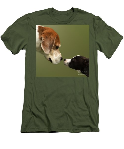 Nose To Nose Dogs 2 Men's T-Shirt (Athletic Fit)