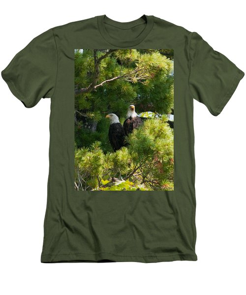 Men's T-Shirt (Slim Fit) featuring the photograph Not Listening by Brenda Jacobs
