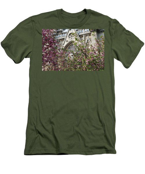 Men's T-Shirt (Slim Fit) featuring the photograph Notre Dame In April by Jennifer Ancker
