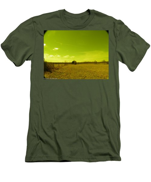 Men's T-Shirt (Slim Fit) featuring the photograph Nuclear Fencerow by Nick Kirby