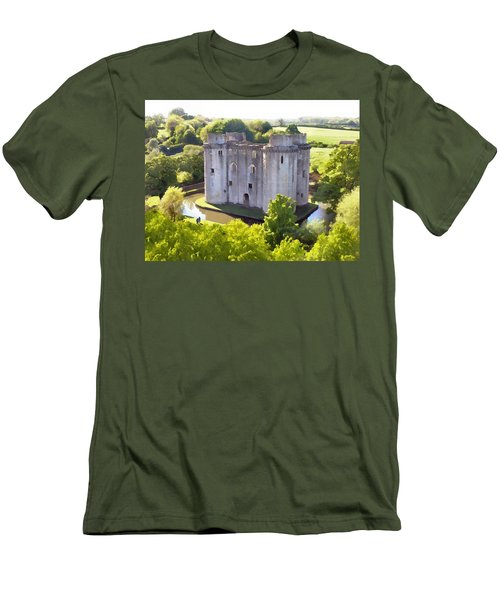 Nunney Castle Painting Men's T-Shirt (Athletic Fit)