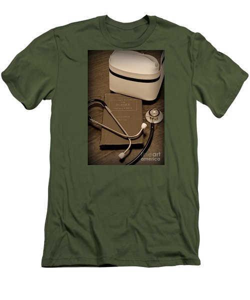 Nurse - The Care Giver Men's T-Shirt (Slim Fit) by Paul Ward