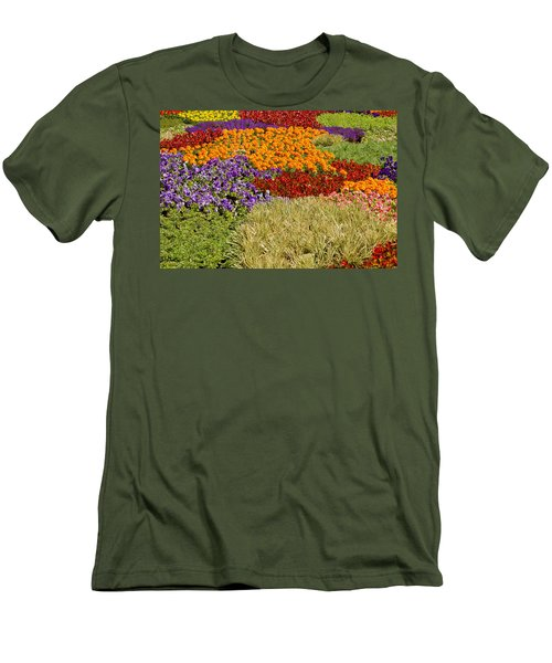 Men's T-Shirt (Slim Fit) featuring the photograph Nursery Potted Garden Plants Arrangement by JPLDesigns