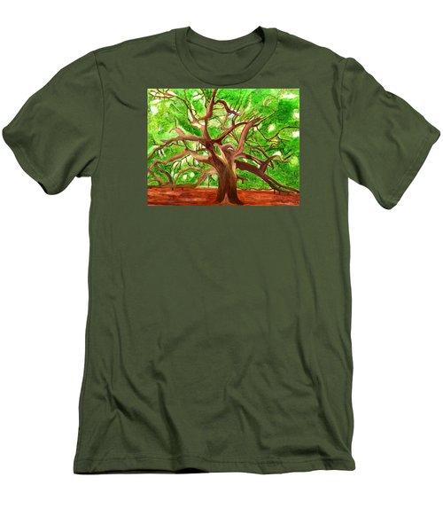 Oak Tree Men's T-Shirt (Slim Fit) by Magdalena Frohnsdorff