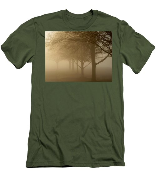Men's T-Shirt (Slim Fit) featuring the photograph Oaks In The Fog by Greg Simmons