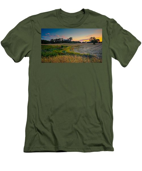 October Evening On The Farm Men's T-Shirt (Athletic Fit)