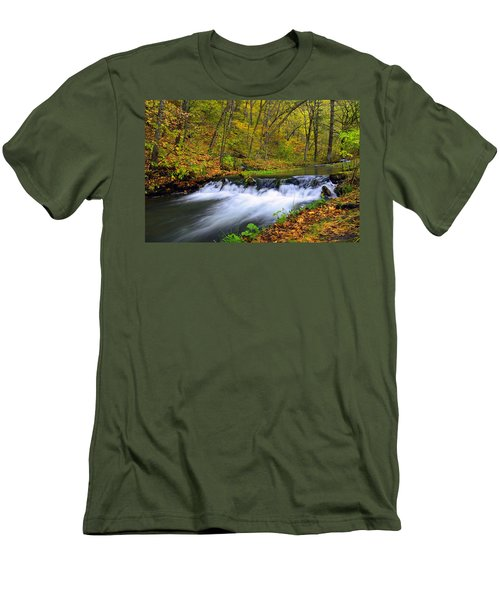 Off The Beaten Path Men's T-Shirt (Slim Fit) by Bonfire Photography