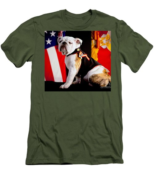 Official Mascot Of The Marine Corps Men's T-Shirt (Slim Fit) by Pg Reproductions