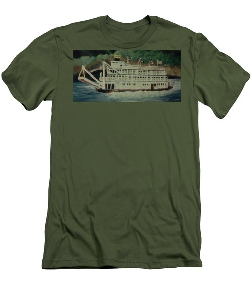 Ohio Riverboat Men's T-Shirt (Slim Fit) by Christy Saunders Church