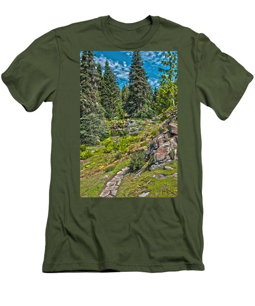 Ohme Gardens Men's T-Shirt (Slim Fit) by Sonya Lang