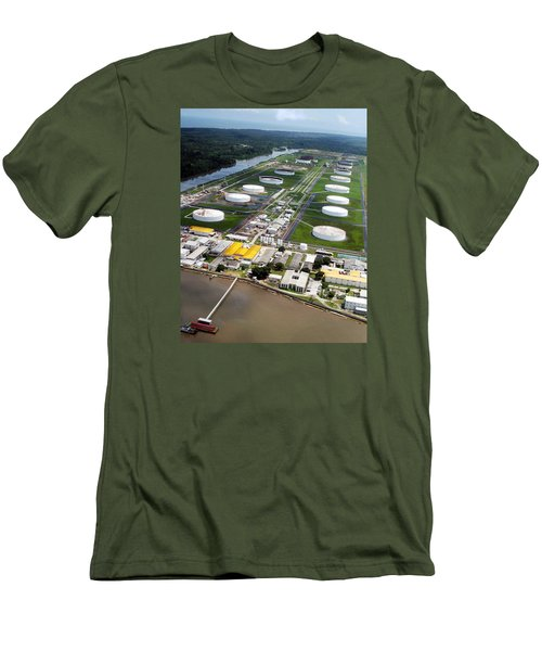 Oil Tank Farms  Men's T-Shirt (Athletic Fit)