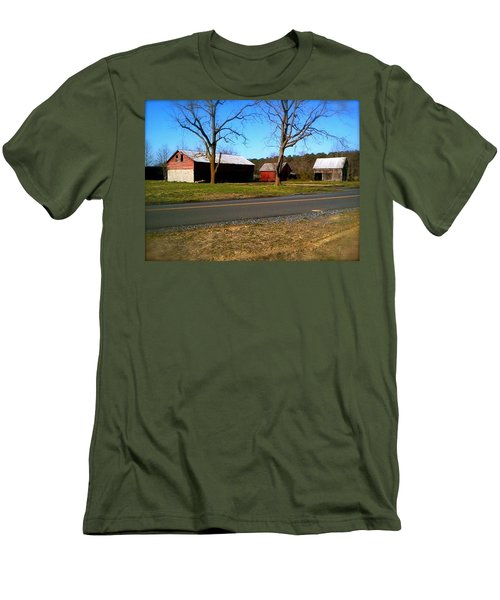 Old Barn Men's T-Shirt (Slim Fit) by Amazing Photographs AKA Christian Wilson