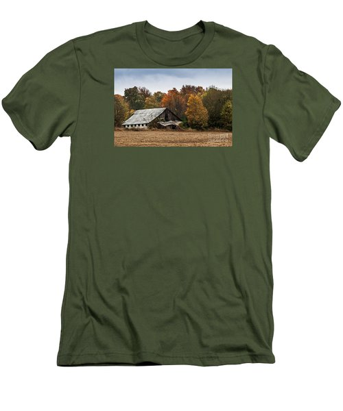 Men's T-Shirt (Slim Fit) featuring the photograph Old Barn by Debbie Green