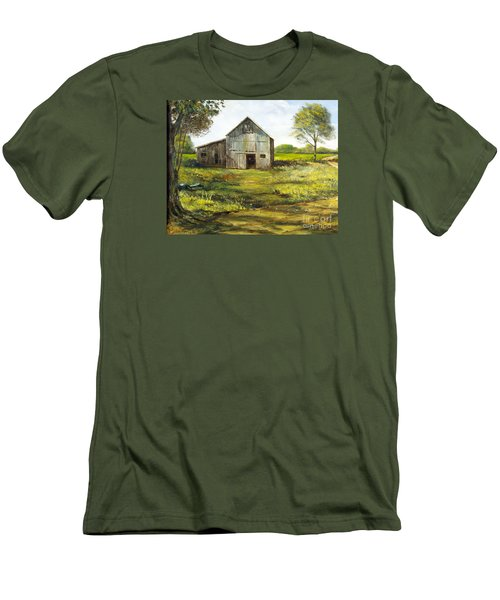Old Barn Men's T-Shirt (Slim Fit) by Lee Piper