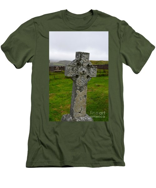 Old Cemetery Stones In Scotland Men's T-Shirt (Athletic Fit)