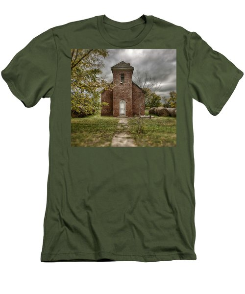 Old Church In Fall Men's T-Shirt (Athletic Fit)