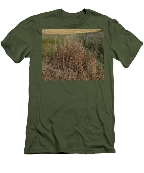 Old Fence Line Men's T-Shirt (Slim Fit) by Donald S Hall