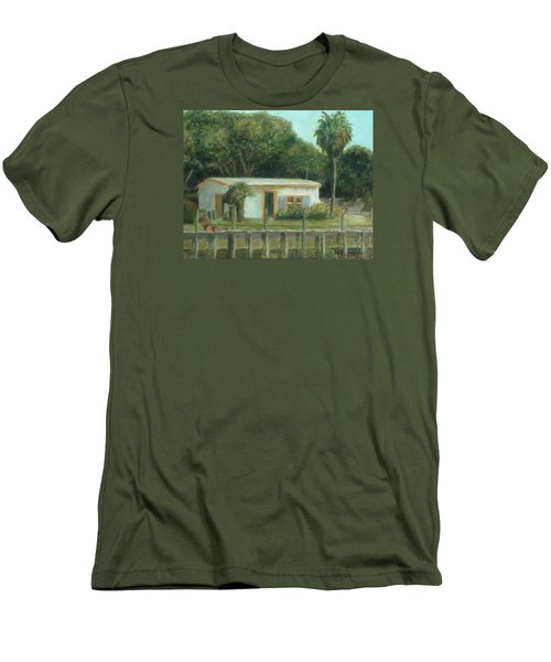 Old Florida Fish Camp And Marina Men's T-Shirt (Athletic Fit)