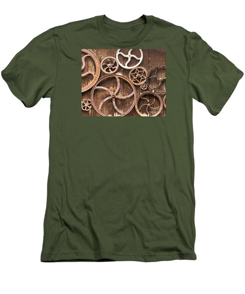 Old Gears In Genoa Nevada Men's T-Shirt (Athletic Fit)