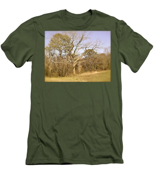 Men's T-Shirt (Slim Fit) featuring the photograph Old Haunted Tree by Amazing Photographs AKA Christian Wilson